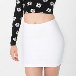 American Apparel White Mini Skirt